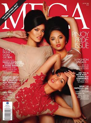mega%2Bmodel%2Bphilippines >Charo Ronquillo, Charlene Almarvez & Danica Magpantayen couv' de Mega Magazine