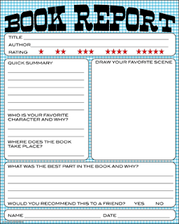 book review proforma ks1