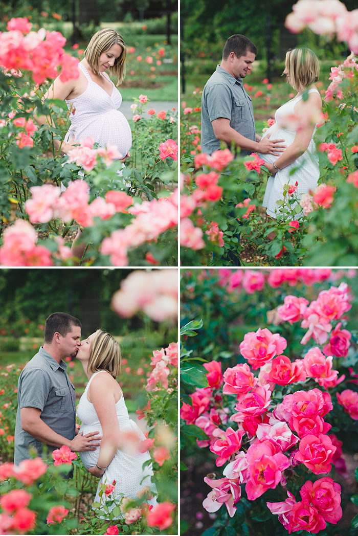 owen rose garden maternity photos