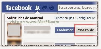 Ocultar solicitudes Facebook