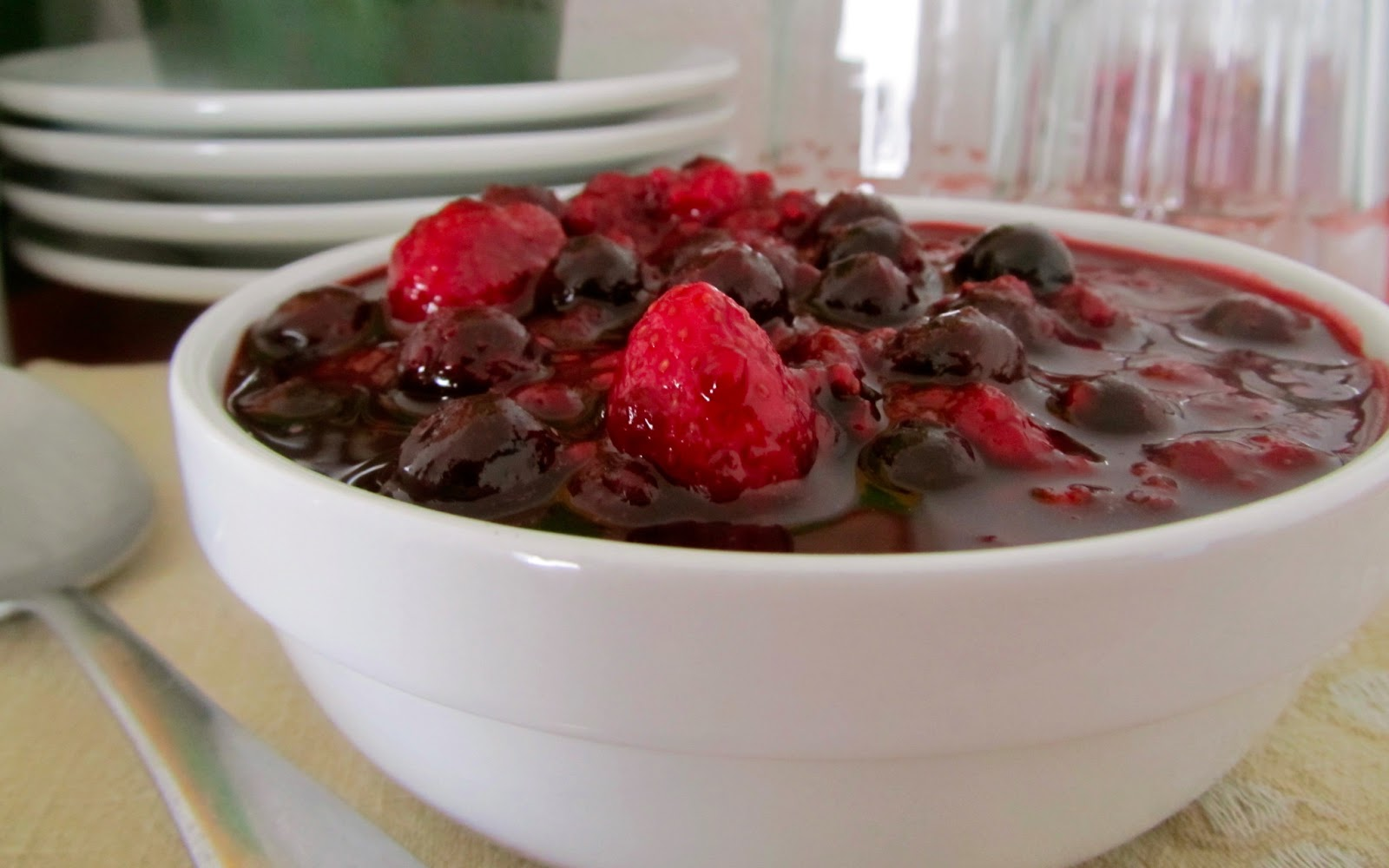 delicious dessert topping, look no further! This easy frozen berry ...