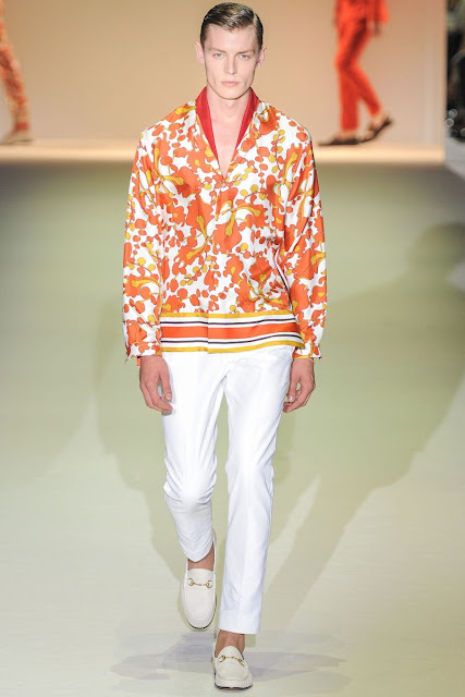 Male model Char­lie TImms S/S 2013 Gucci