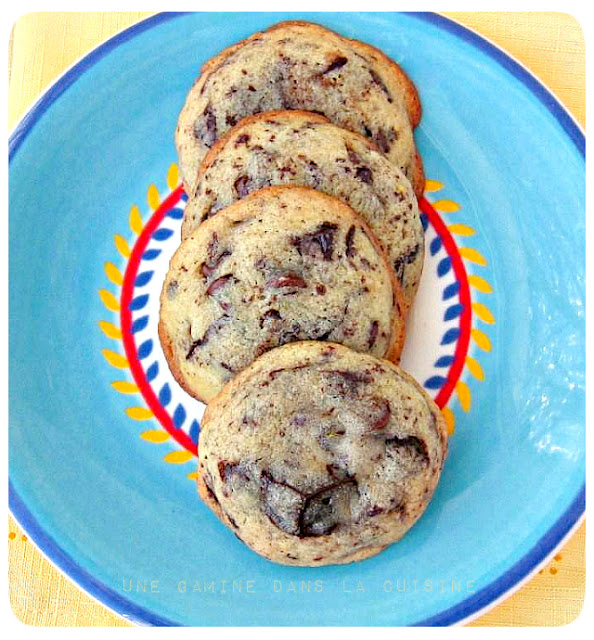 Cream Cheese-Chocolate Chip Cookies ~ une gamine dans la cuisine