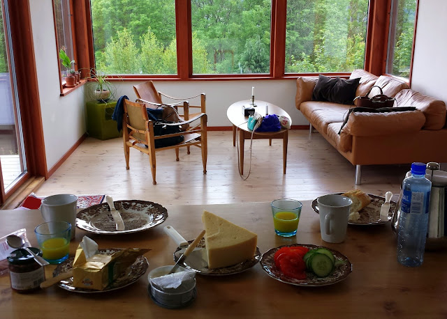 Swedish breakfast at our AirBnB in Båstad, Skåne, Sweden  |  Postcard from Båstad in Skåne on afeathery*nest  |  http://afeatherynest.com