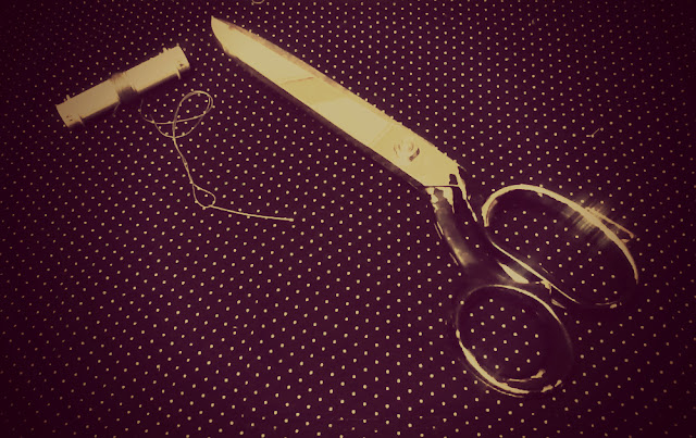 needle thread scissors fabric