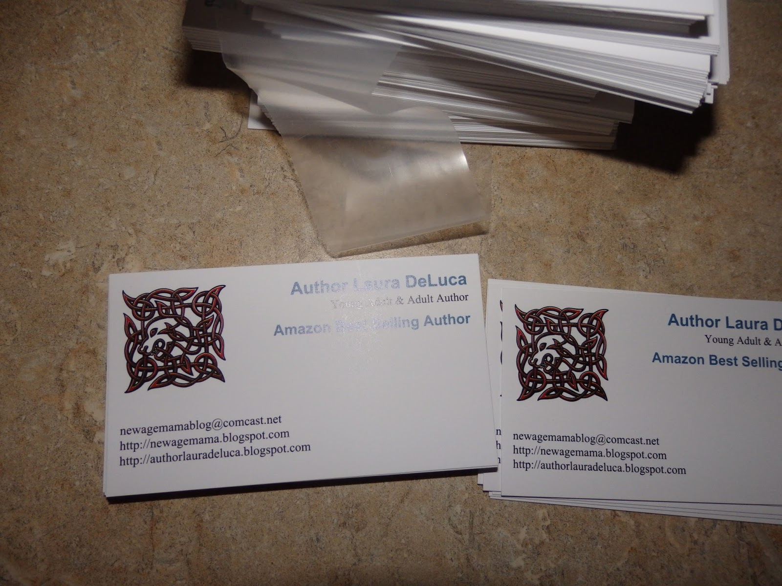 New age mama affordable business cards delivered quick from staples so i hand them my business card and i know it works because the last time i was at the dentist my hygienist pulled my book out of her handbag and asked me reheart