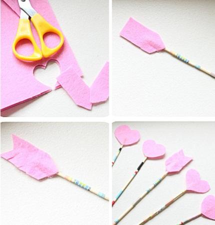 Como hacer flechas romanticas de san valentin manualidades faciles para decorar - Manualidades para hacer en san valentin ...