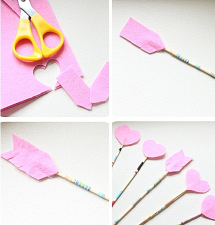 Como hacer flechas romanticas de san - Como hacer adornos de san valentin ...