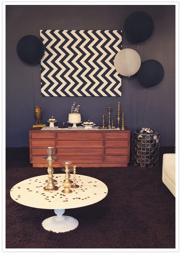 Modern mindy palm springs 30th birthday bash for 30th party decoration ideas