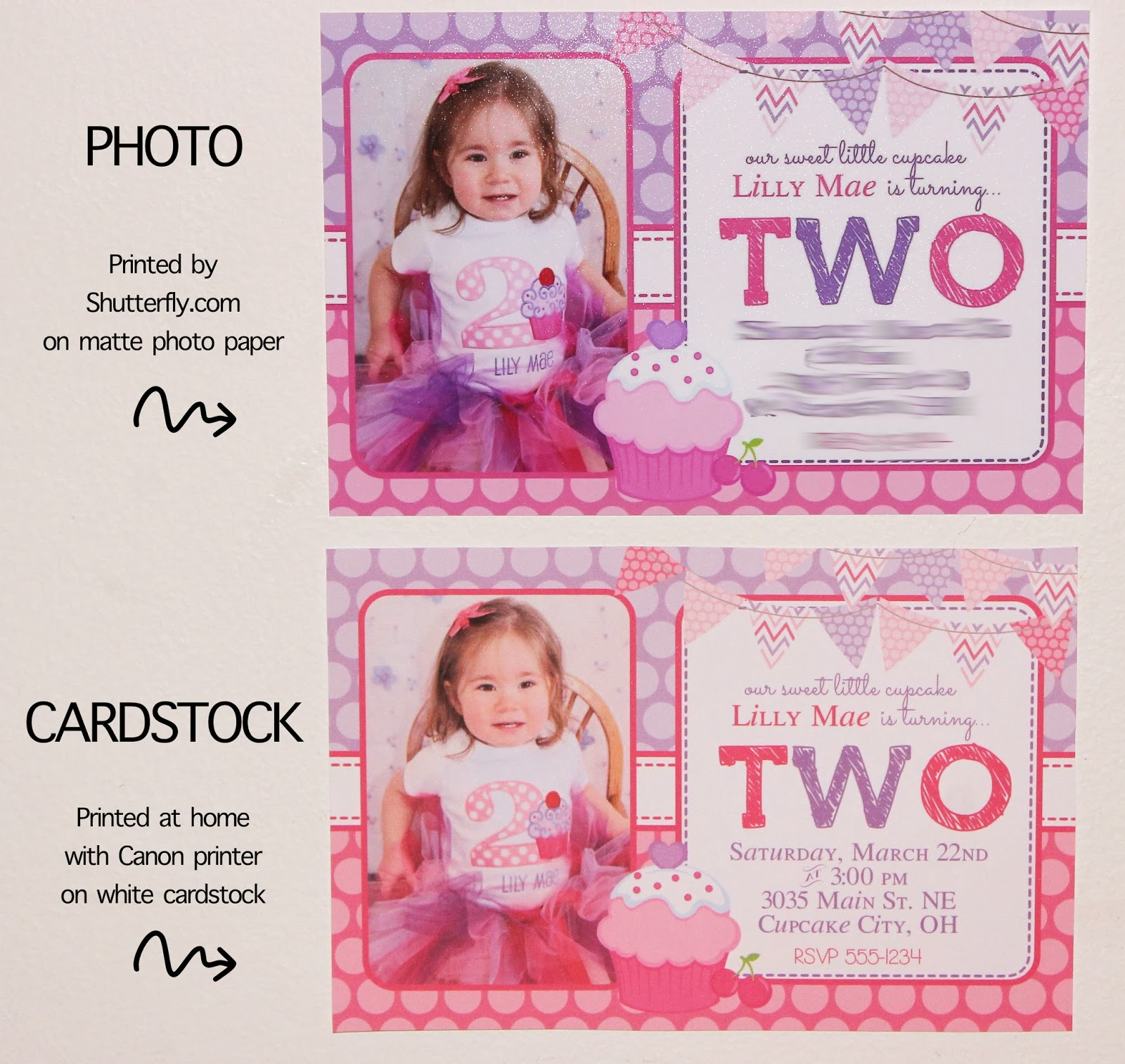 graphic relating to Printable Cardstock Invitations named Printable Invites: Cardstock or Image Paper? - hilltop