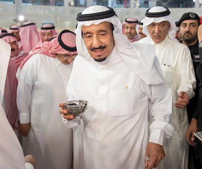 Foto : Prosesi Pencucian Ka'bah oleh Raja Saudi dan Putra Mahkota