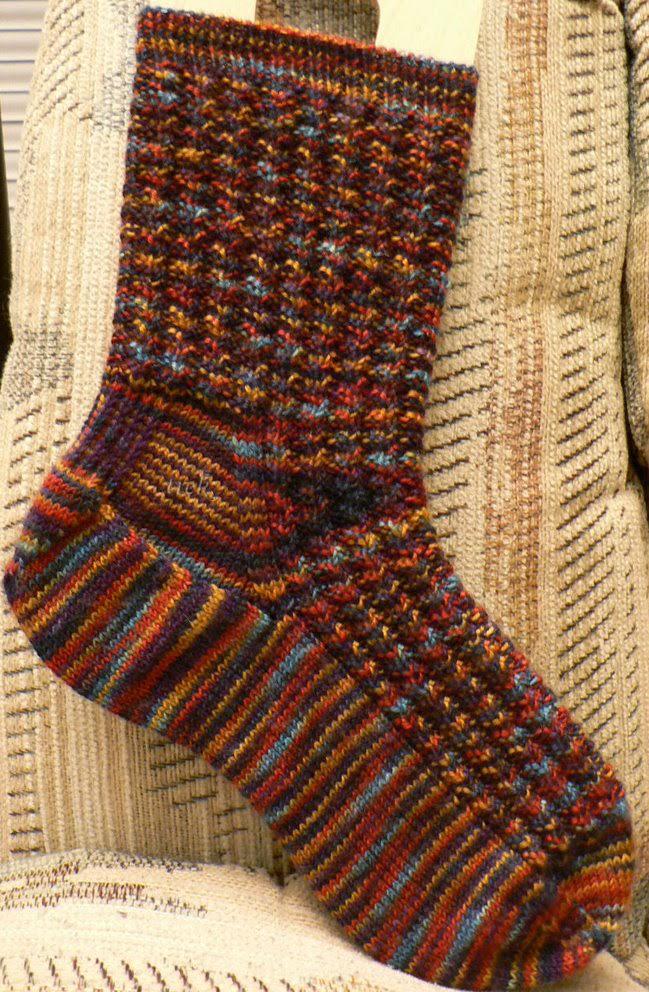 Knit Blue suede socks