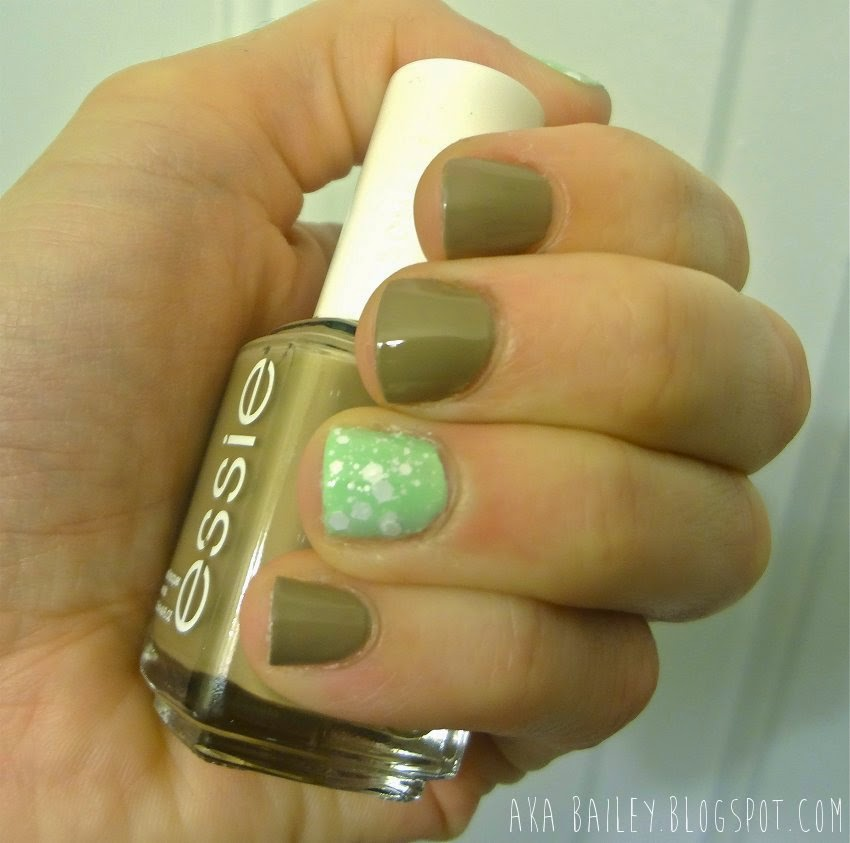 Essie Case Study with mint accent nails