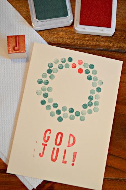 God Jul Karte selbermachen