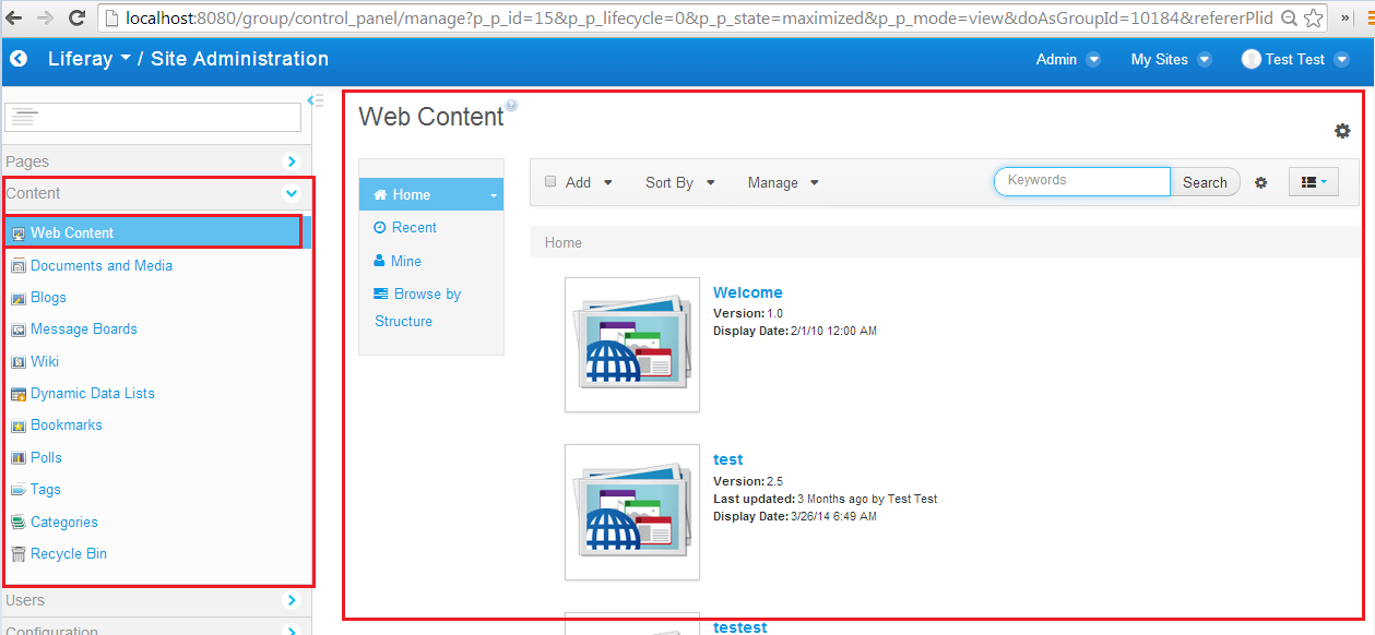 Liferay 62 Web Content Aui Carousel Structure And Template Image