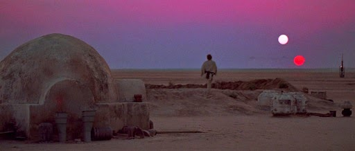 tatooine star wars guerra de las galaxias two suns dos soles luke skywalker binary system
