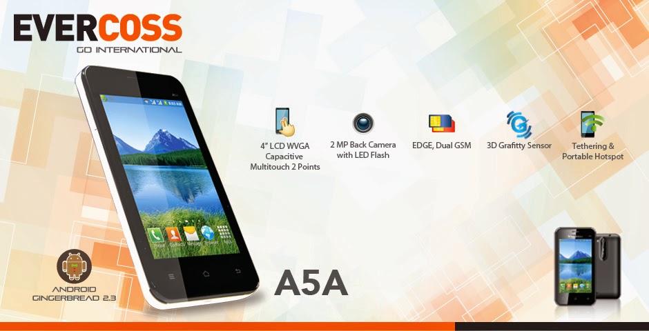 Harga dan Spesifikasi Android EverCoss A5A