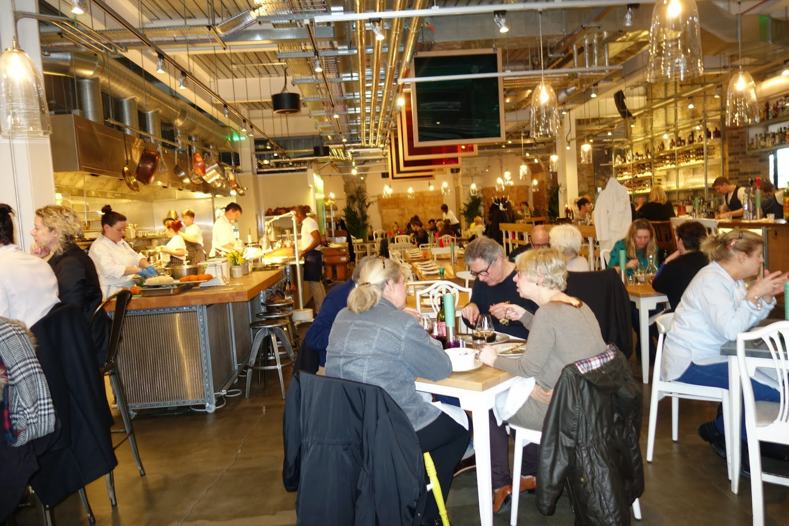 The interior of Grain store restaurant
