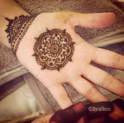 Middle Hand Mehndi Designs