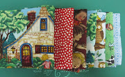 . a collection of 7 Fat Quarters of whimsical ME fabrics.