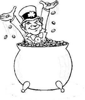 St  Patrick Day Leprechaun Pot Of Gold Coloring Page