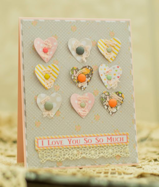 Meredith MacRitche Chickniddy Crafts Brads Card