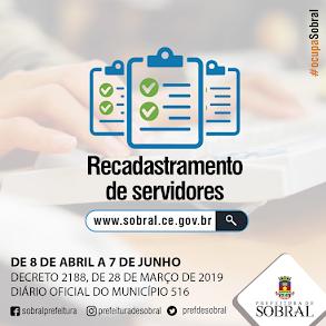 RECADASTRAMENTO DE SERVIDORES