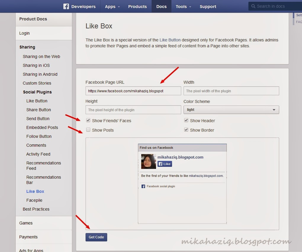 how to add facebook fan box on your blog