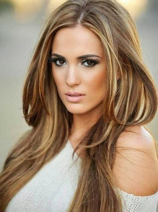 Auburn brown hair with blonde highlights | Hair and Tattoos