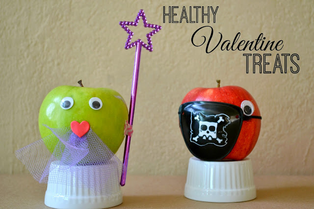 Mommy Testers, Pirate valentine for kids, Healthy Valentine Treats, Pirate Valentine apple, Pirate eye patch valentine