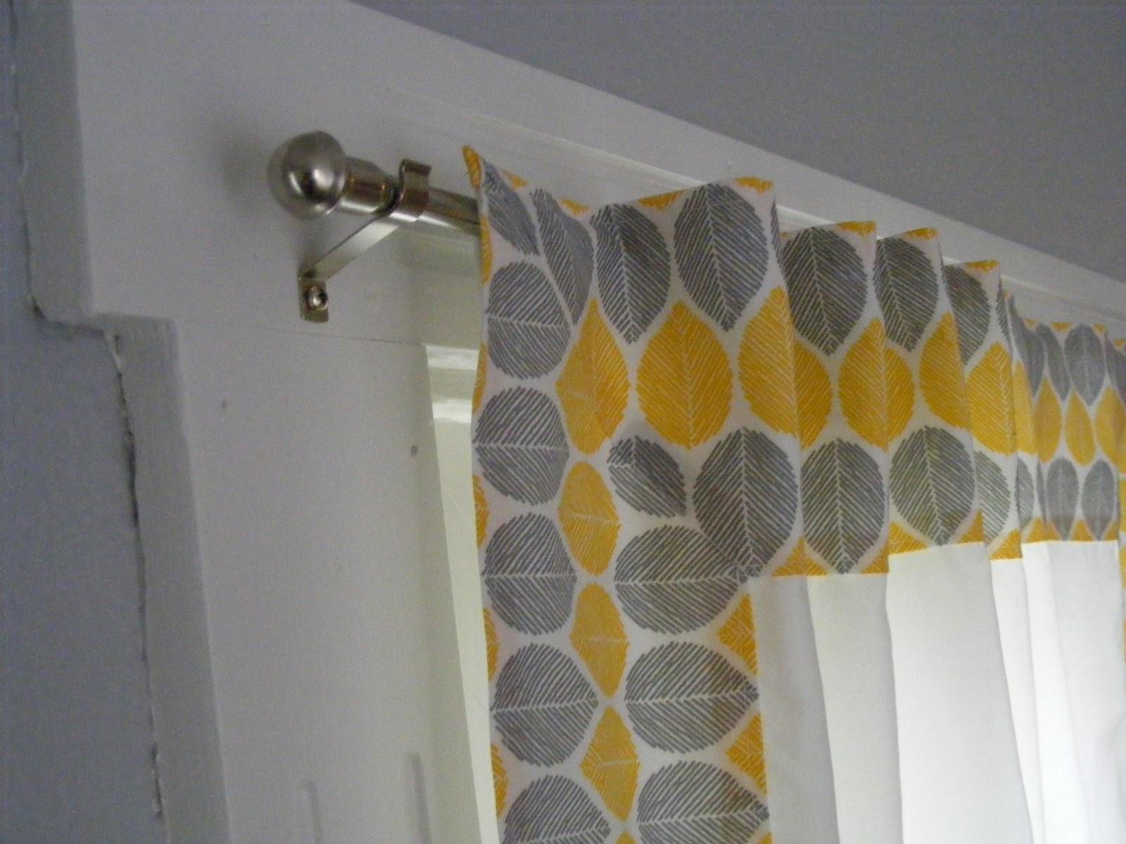 Walk In Shower Curtain Yellow Checkered Kit