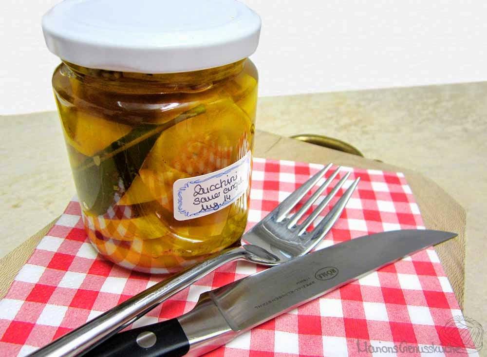 Eingelegte Zucchini zur Brotzeit