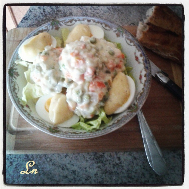 Keskonmangemaman oeufs la russe une entr e simple for Entree repas simple