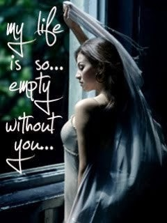 My Life is So Empty Without You - Sad Girl in Love Mobile Wallpaper