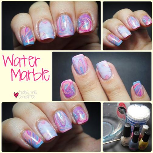water-marble-nail-art