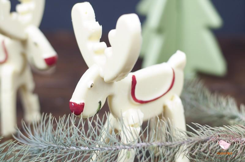 reno chocolate blanco para Navidad