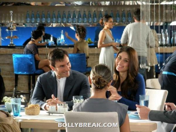 Kareena and saif having dinner -  Kareena & Saif new Head and shoulders ad