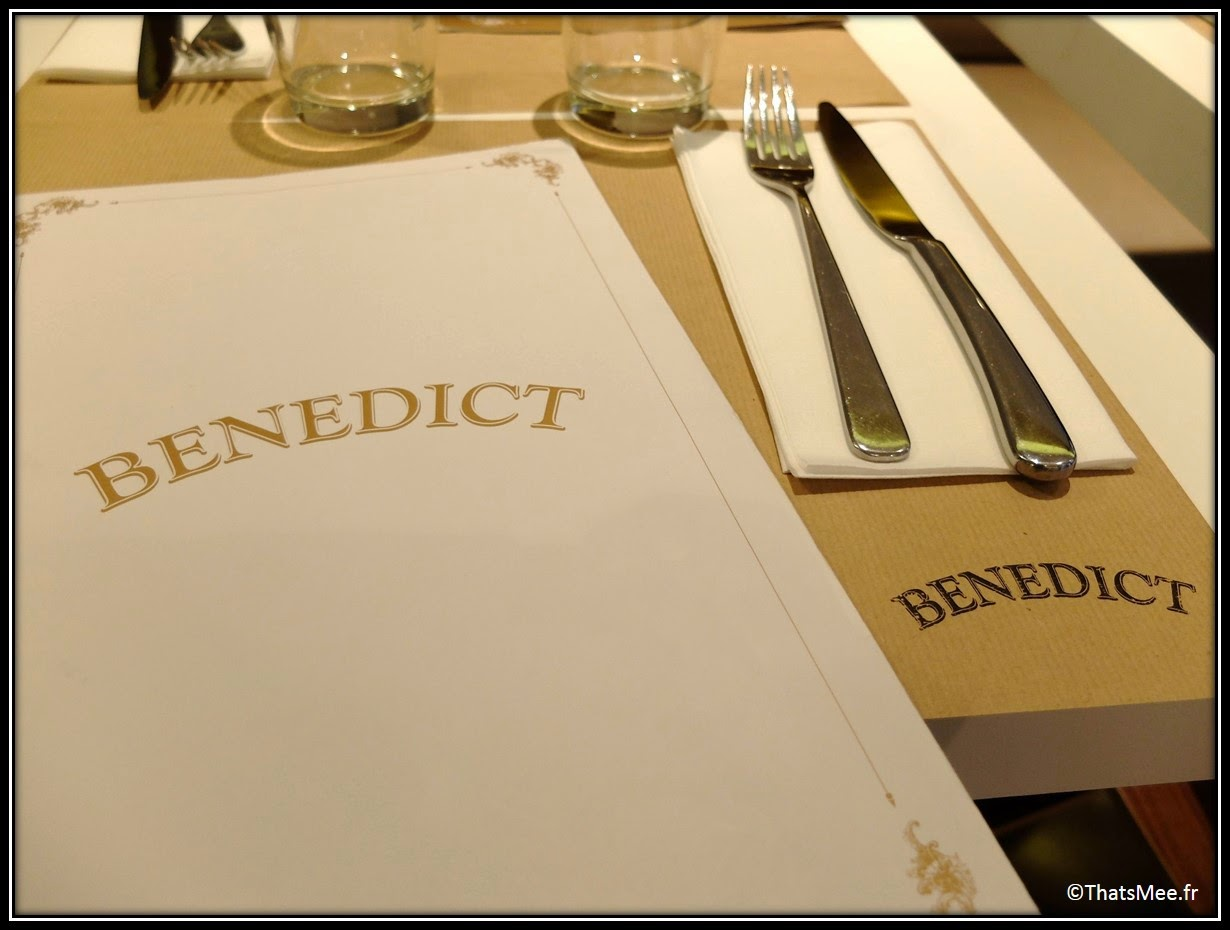 Menu Restaurant Benedict Marais Paris brunch