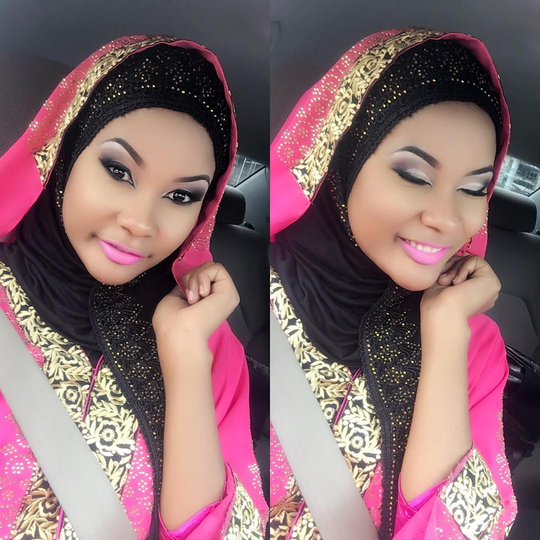 Hamisa Mobetto shows off nice designs of wearing Hijjab ...