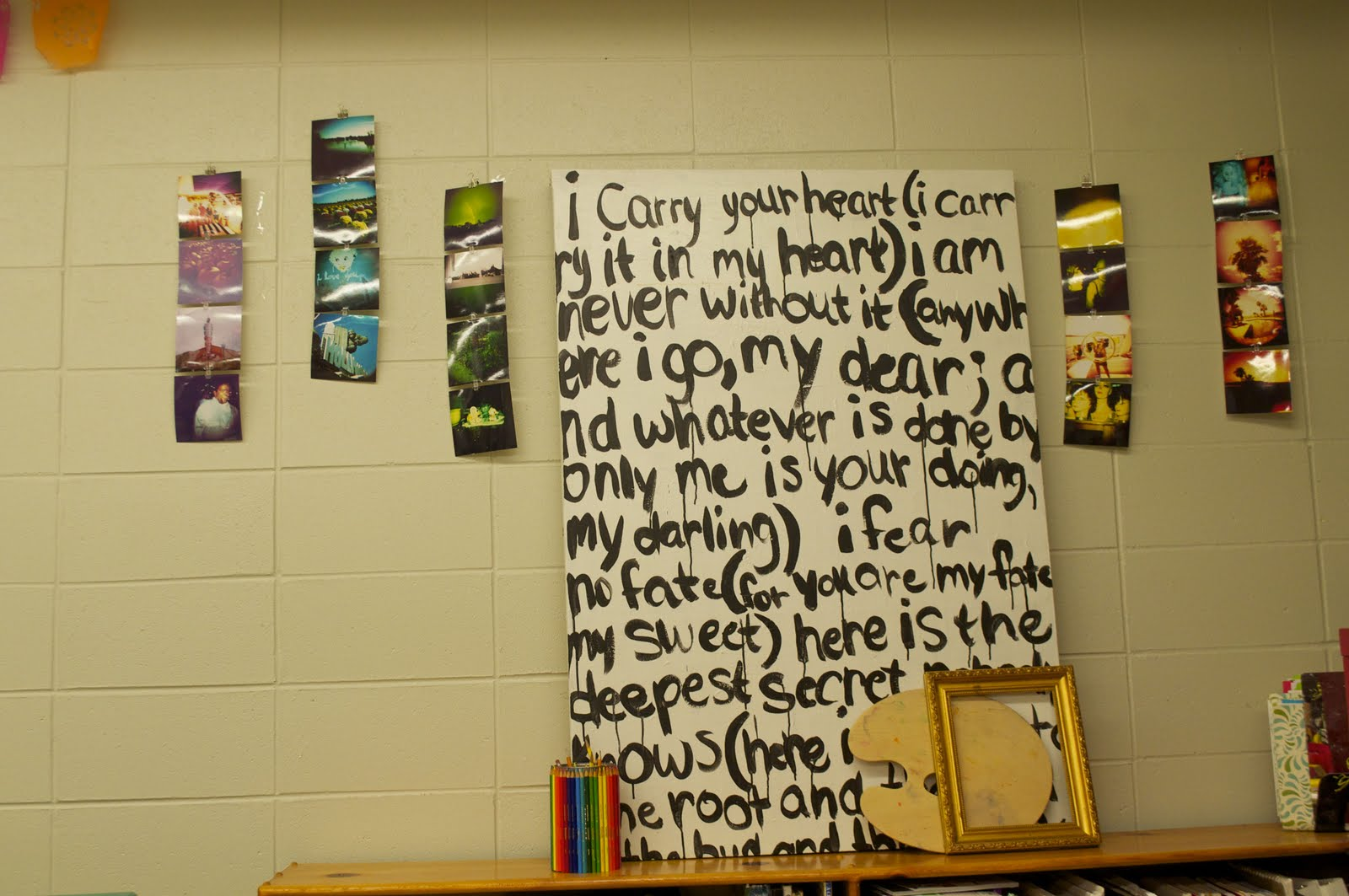 This Little Blog of Mine....: Large Painting with words {Addict}