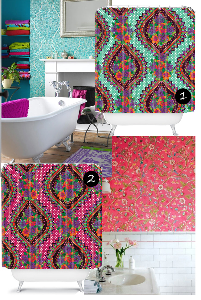 gallery for boho shower curtain