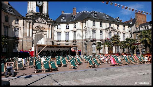 Ville Rennes Mairie hotel de ville, transat en ville mairie Rennes