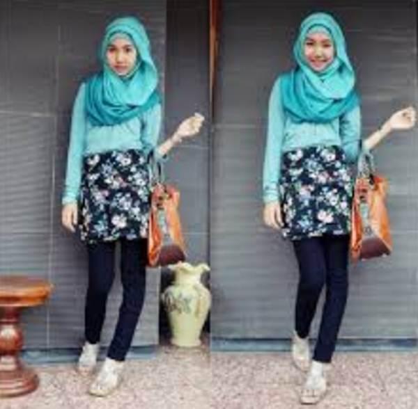Model Busana Hijab Casual Remaja Terbaru 2016 Dunia