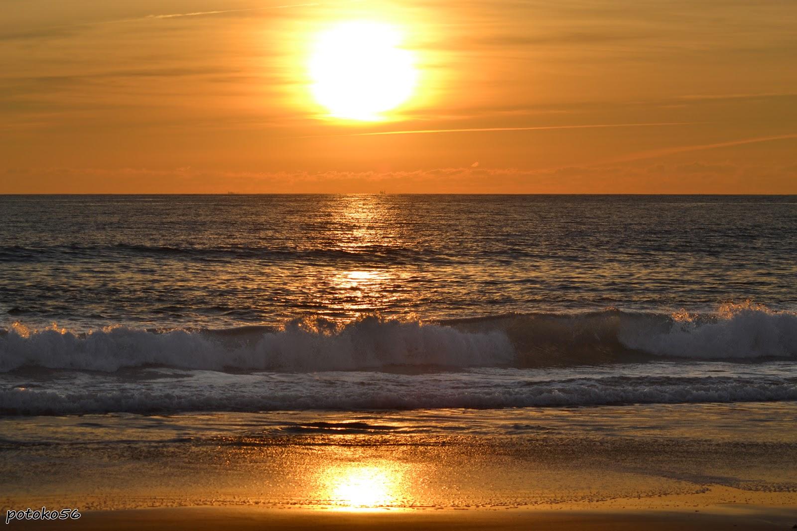 Puesta de sol, Sol y mar, Playa de Rota, Playa de la Costilla