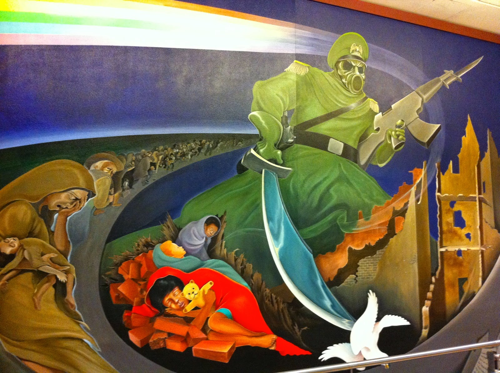 Parablesblog prometheus ebola and the coming days of woe for Denver international airport mural