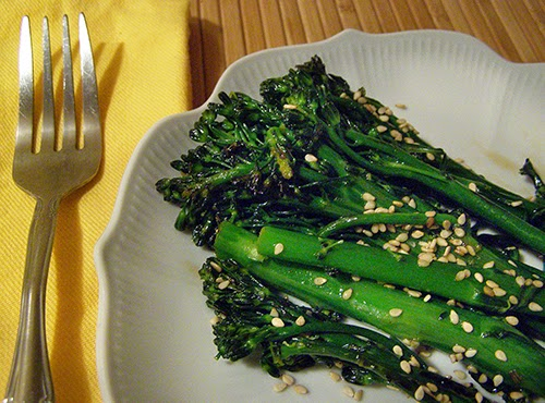 Individual serving of Sesame Lime Broccolini