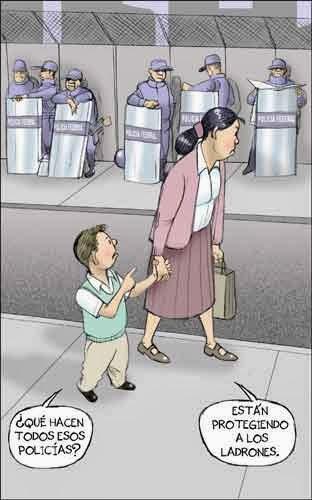 Caricatura hijo y mamá
