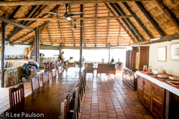 Interior of Baobab Lodge main lodge building