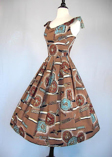 Vintage 50's Novelty Dress