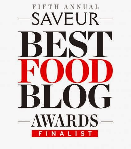 Best Regional Cuisine Blog Finalist and Best New Blog Finalist.